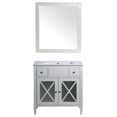 Postell 32 Single Bathroom Vanity Set Base Finish: White