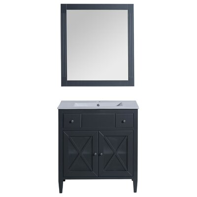 Postell 32 Single Bathroom Vanity Set Base Finish: Gray