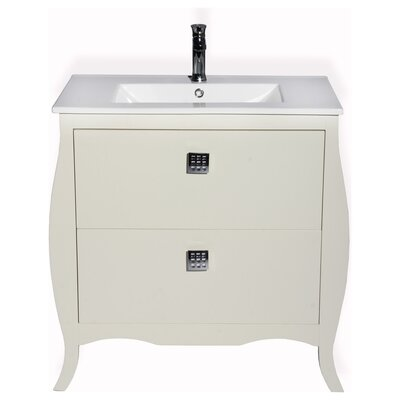 Rosato 32 Single Bathroom Vanity Base Finish: Ivory