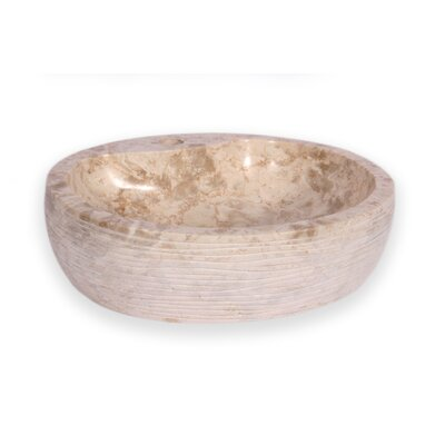 Santorini Stone Oval Vessel Bathroom Sink