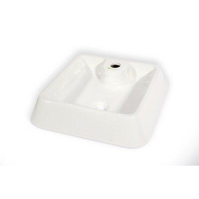 Galicia Ceramic Square Vessel Bathroom Sink