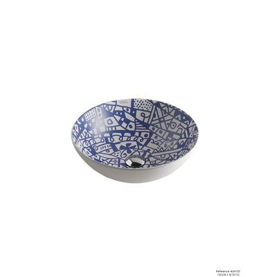 Sicilia Ceramic Circular Vessel Bathroom Sink