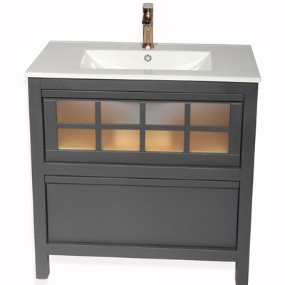 Aztec Single Bathroom Vanity Set Size: 31.63 H x 31.63 W x 17.83 D