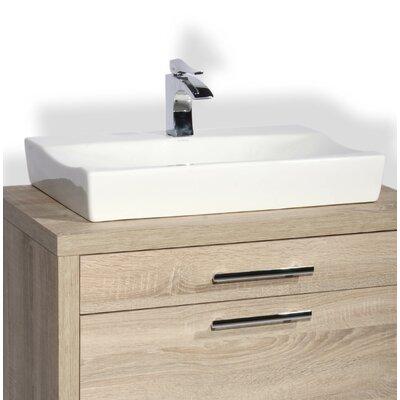 Sardinero Ceramic Rectangular Vessel Bathroom Sink