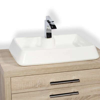Galicia Ceramic Rectangular Vessel Bathroom Sink