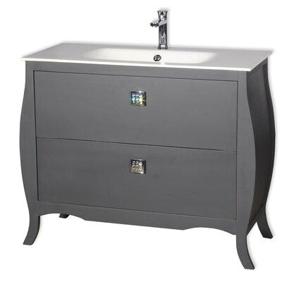 Rosato 40 Single Bathroom Vanity Base Finish: Gray