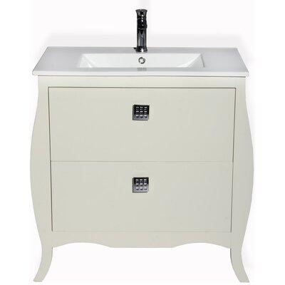 Rosato 40 Single Bathroom Vanity Base Finish: Ivory