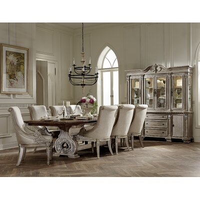 Chirk Trestle Extendable Dining Table Finish: White