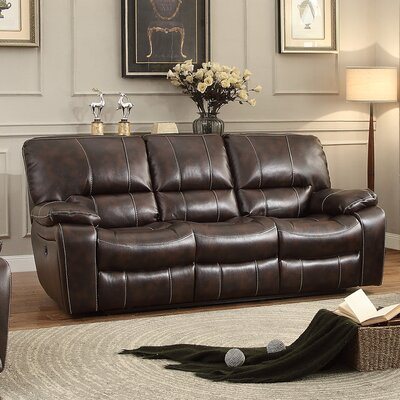 8435-3PW BOME1285 Homelegance Timkin Power Leather Double Reclining Sofa