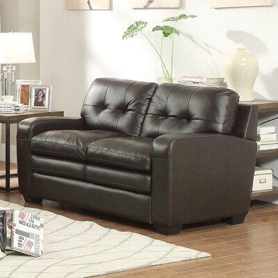 8422-2 BOME1346 Homelegance Urich Leather Loveseat