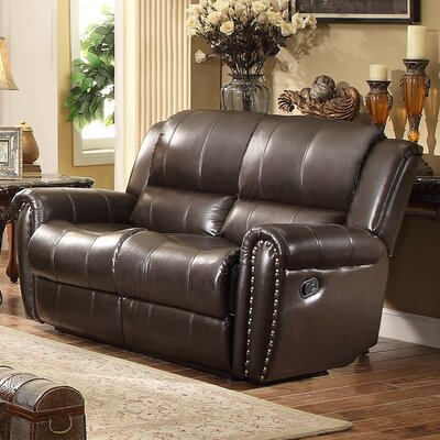 DBHC3649 26717767 DBHC3649 Darby Home Co Bosworth Leather Reclining Loveseat