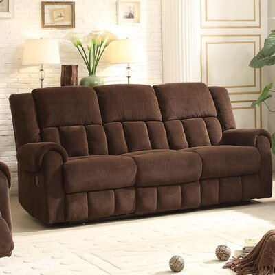 8400CH-3 BOME1063 Homelegance Bunker Reclining Sofa