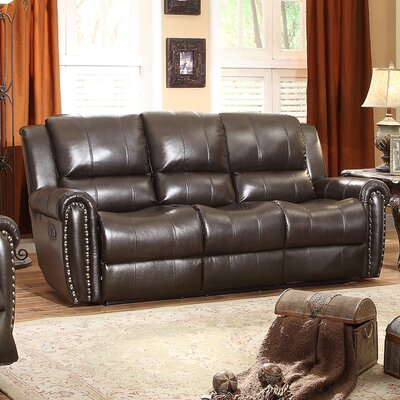 8409-3 BOME1056 Homelegance Bosworth Leather Double Reclining Sofa