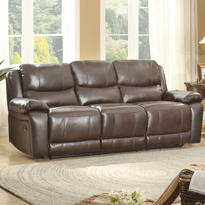8429-3 BOME1103 Homelegance Allenwood Leather Double Reclining Sofa