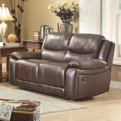 8429-2 BOME1102 Homelegance Allenwood Leather Reclining Loveseat