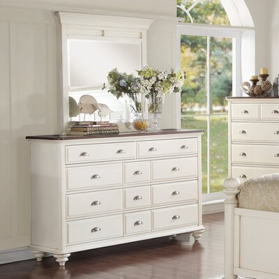 North Andrews Gardens 11 Drawer Dresser with Mirror