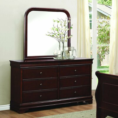 Abbeville 6 Drawer Dresser with Mirror