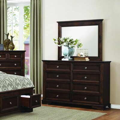 Eunice 8 Drawer Dresser with Mirror
