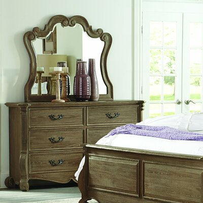 Chrysanthe 6 Drawer Dresser with Mirror