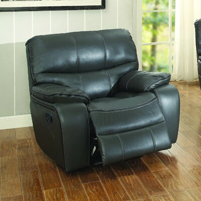 Beck Leather Recliner Reclining Type: Power, Color: Gray