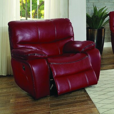 Beck Recliner Type: Power, Color: Red