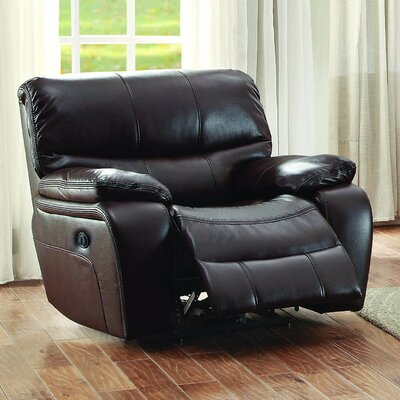 Beck Leather Recliner Type: Manual, Color: Brown
