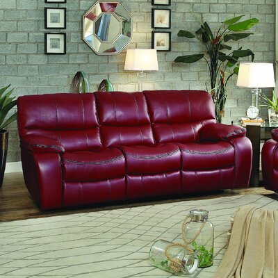Beck Reclining Sofa Type: Manual, Upholstery: Red
