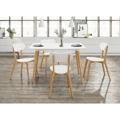 Bleecker Dining Table Top Finish: White/Natural Pine