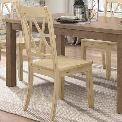 Diane Solid Wood Dining Chair (Set of 2) Color: Buttermilk