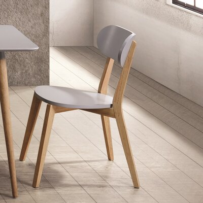 Bleecker Dining Chair (Set of 2) Color: Gray