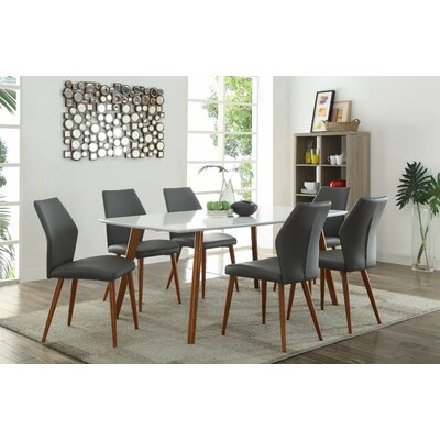 Vanetten Side Chair (Set of 2) Upholstery Color: Gray