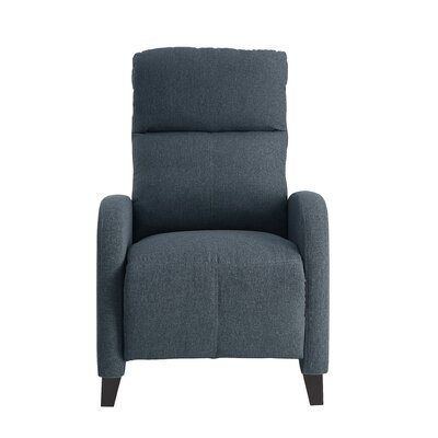 Dohn Push Back Manual No Motion Recliner Upholstery: Gray Fabric
