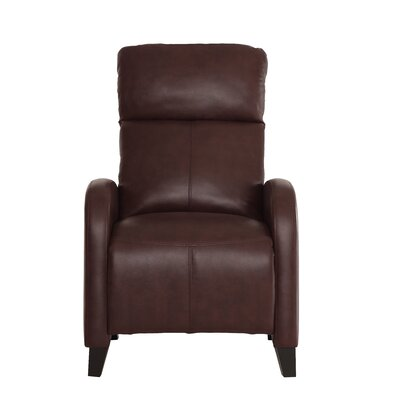 Dohn Push Back Manual No Motion Recliner Upholstery: Brown P/U