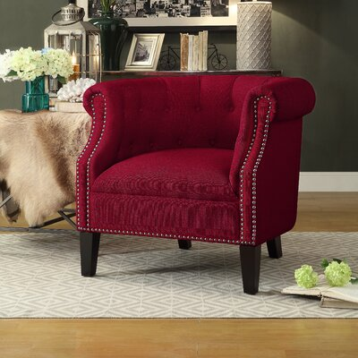 Mazon Barrel Chair Upholstery: Red