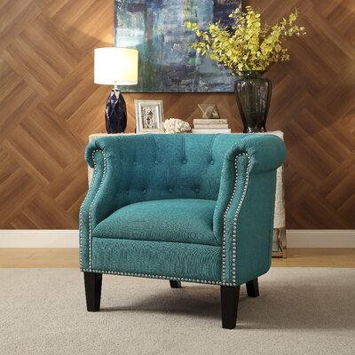Mazon Barrel Chair Upholstery: Teal