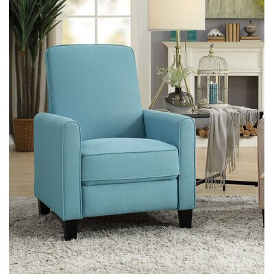 Zelee Push Back Manual No Motion Recliner Upholstery: Blue
