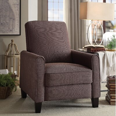 Zelee Push Back Manual No Motion Recliner Upholstery: Chocolate