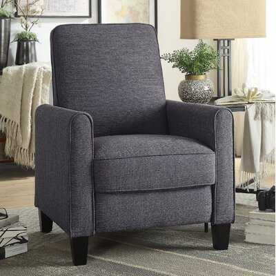 Zelee Push Back Manual No Motion Recliner Upholstery: Gray