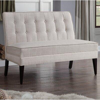 Hicks Settee Loveseat Upholstery: Beige