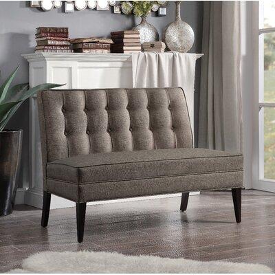 Hicks Settee Loveseat Upholstery: Brown