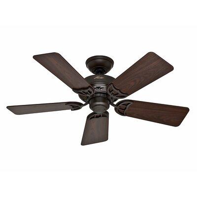 42 Hudson™ 5 Blade Ceiling Fan Finish: Bronze with Dark Walnut/Medium Oak Blades