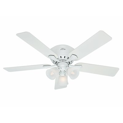 52 Reinert 5-Blade Ceiling Fan Finish: Snow White