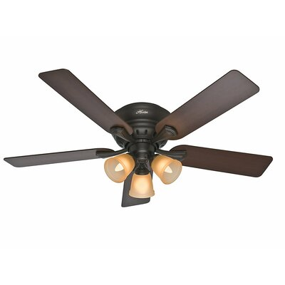 52 Reinert 5-Blade Ceiling Fan Finish: Premier Bronze with Brazilian Cherry/Dark Walnut