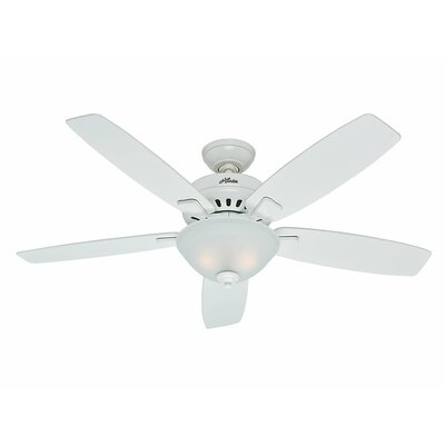 52 Banyan 5 Blade Ceiling Fan Finish: Snow White image