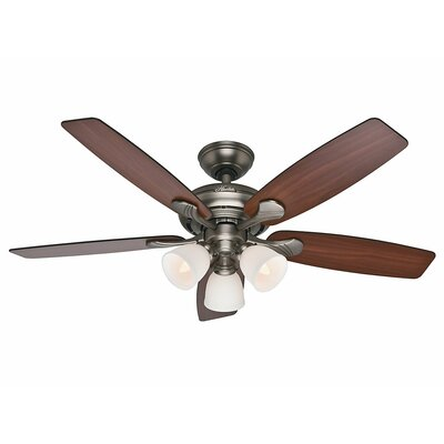 52 Conway 5 Blade Ceiling Fan Finish: Antique Pewter with Cherried Walnut/Burnt Walnut B image