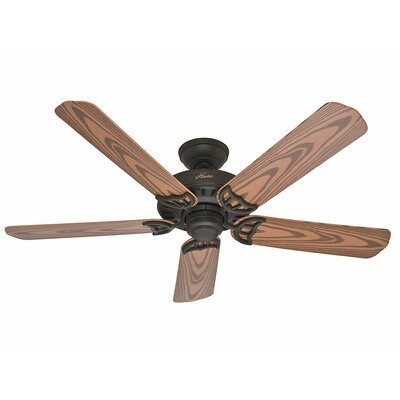 52 Bridgeport™ 5 Blade Ceiling Fan Finish: Bronze with Oak Plastic Blades image