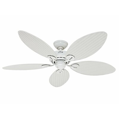54 Bayview 5 Blade Ceiling Fan Finish: White with White Wicker Blades