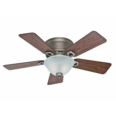 42 Conroy 5 Blade Ceiling Fan Finish: Antique Pewter with Rosewood/Dark Maple Blades