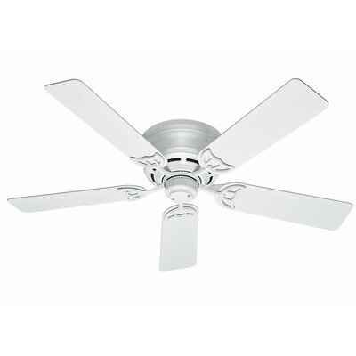 52 Low Profile III 5 Blade Ceiling Fan Finish: White image