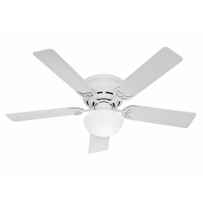 52 Low Profile III Plus 5 Blade Ceiling Fan Finish: White image